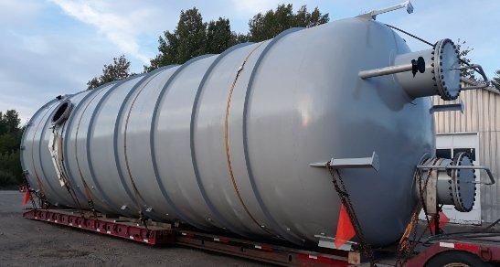 14' diameter waste treatment tank